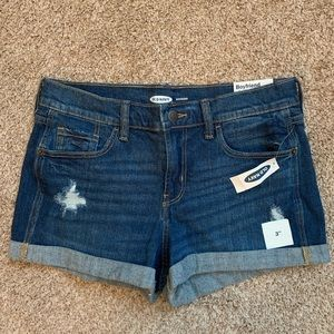 "NWT Old Navy Boyfriend 3"" Denim Cuffed Shorts"